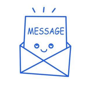 メッセージのイラスト